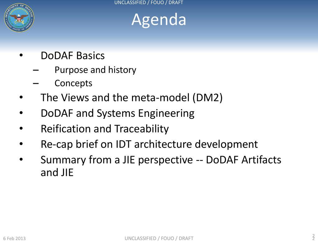 DoDAF In-Depth DoD CIO Architecture and Interoperability
