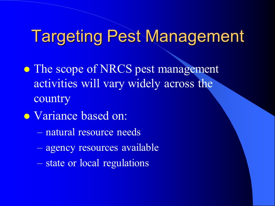 Targeting Pest Management