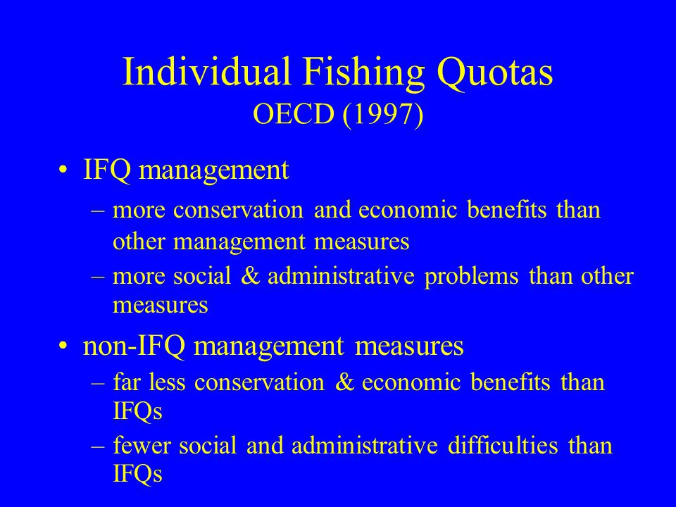 Individual Fishing Quotas OECD (1997)
