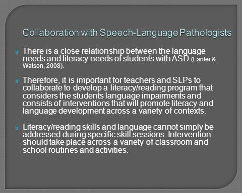 Collaboration with Speech-Language Pathologists