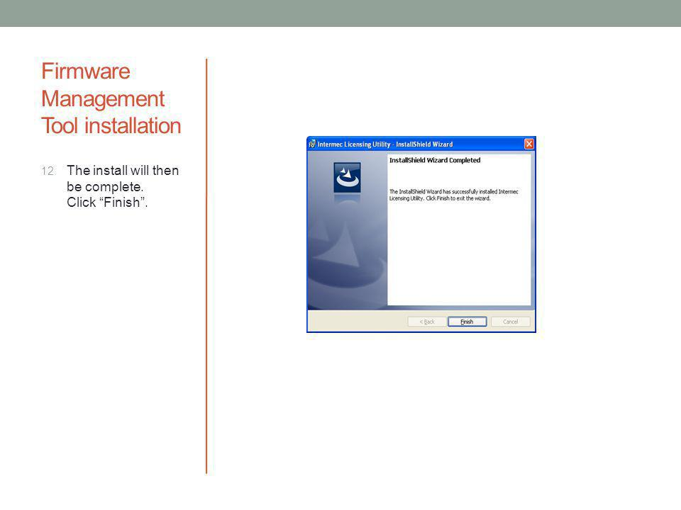 Firmware Management Tool installation