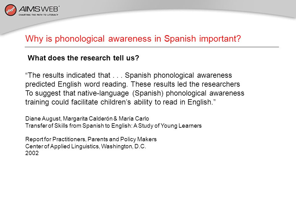 Why is phonological awareness in Spanish important