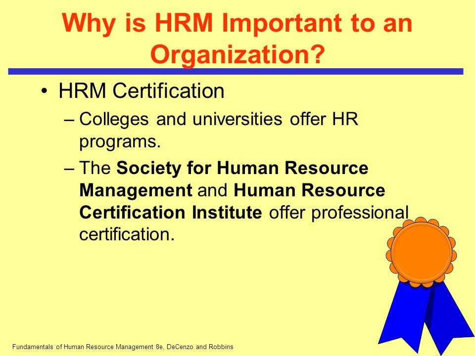 Fundamentals Of Human Resource Management 8e Decenzo And Robbins
