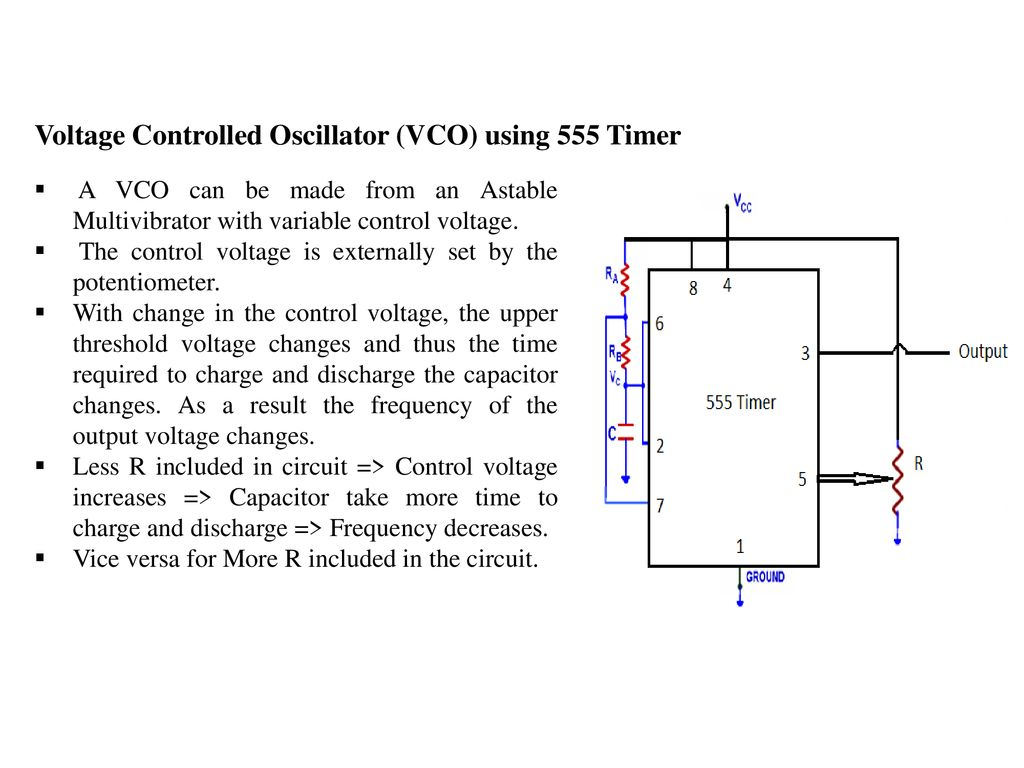 Elec207 Linear Integrated Circuits Ppt Download Special Function Timer Lm555 Voltage Controlled Oscillator Vco Using 555