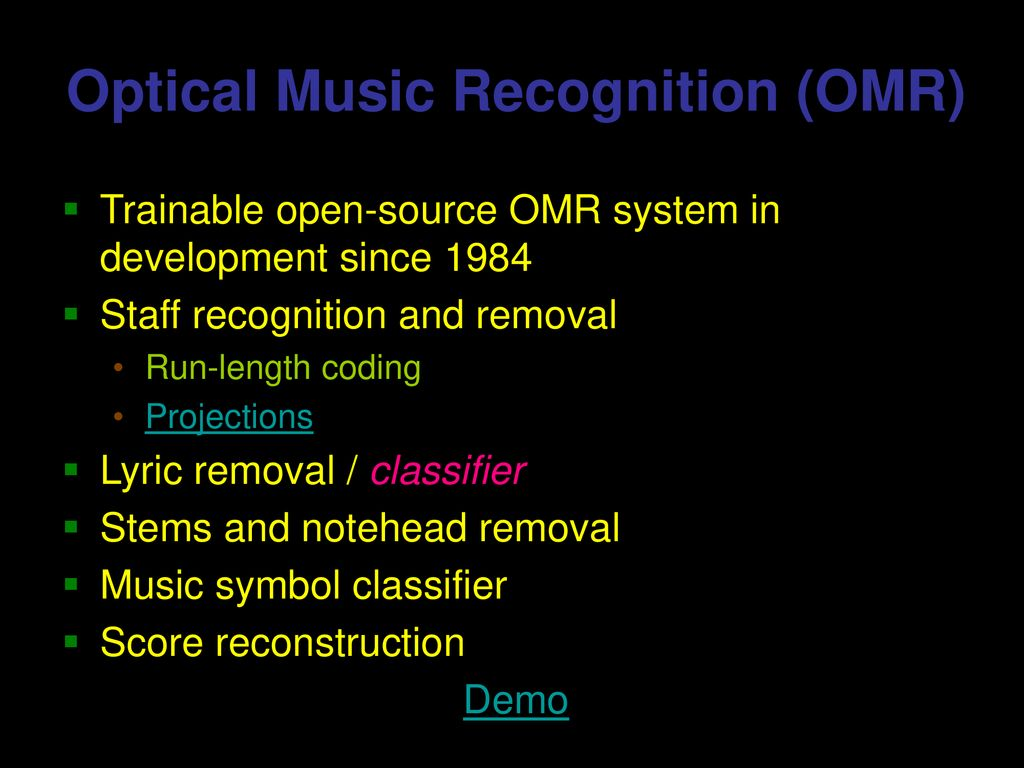Optical Music Recognition - ppt download