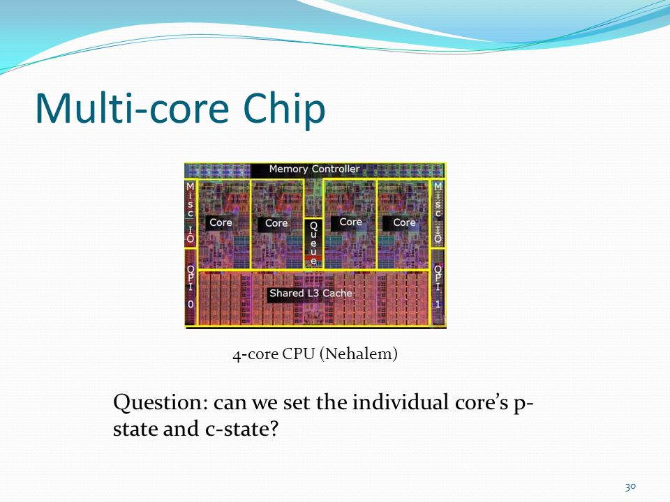 Multi-core Chip 4-core CPU (Nehalem) Question: can we set the individual core's p-state and c-state