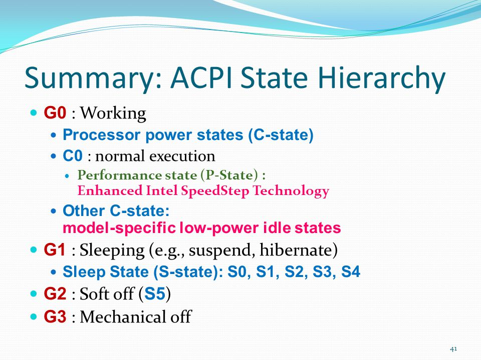 Summary: ACPI State Hierarchy