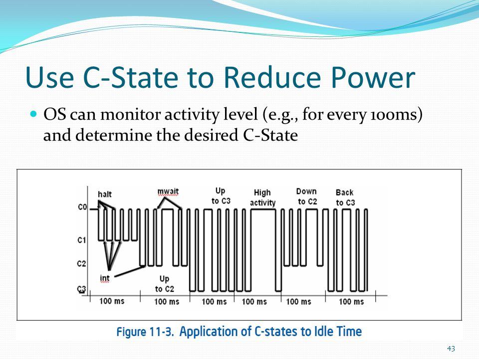 Use C-State to Reduce Power