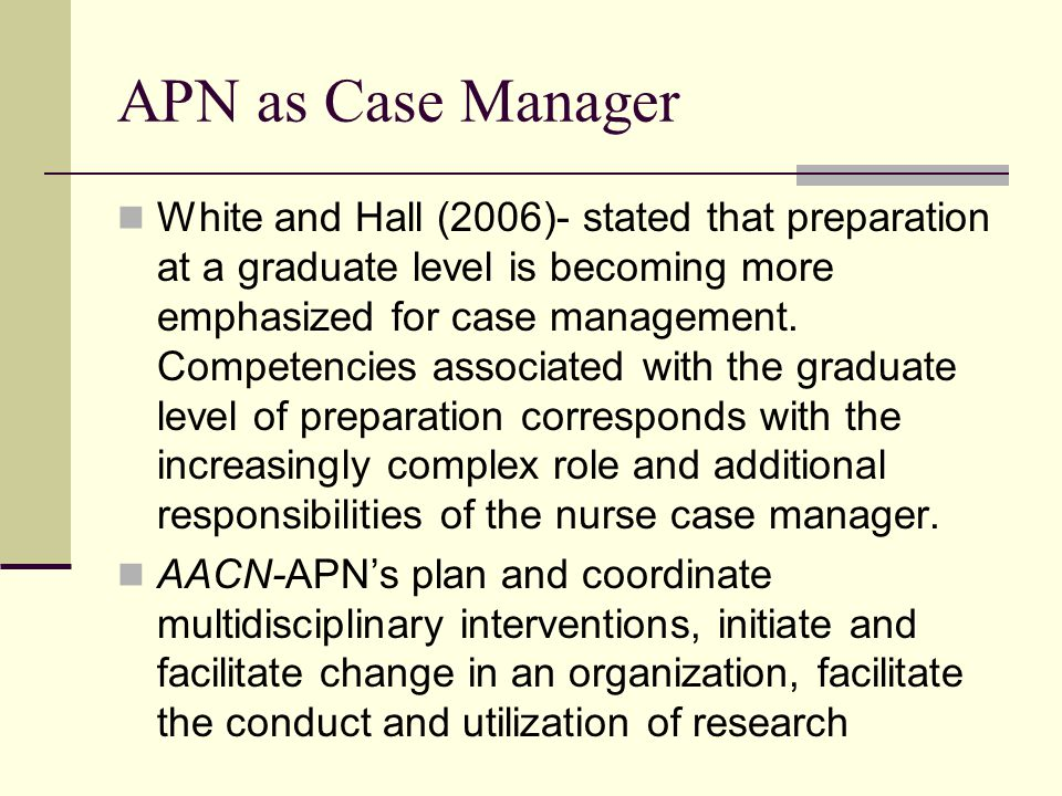 APN as Case Manager