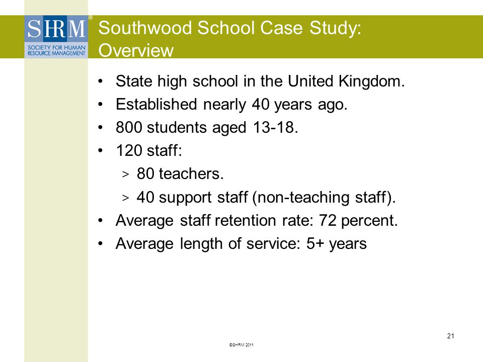 Southwood School Case Study: Overview