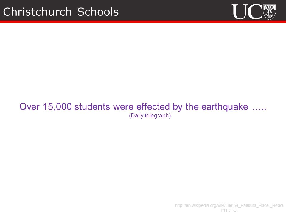 Over 15,000 students were effected by the earthquake …..