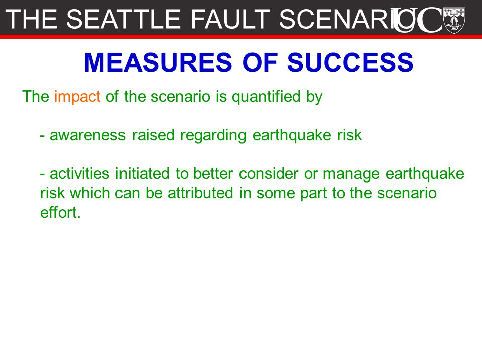 THE SEATTLE FAULT SCENARIO