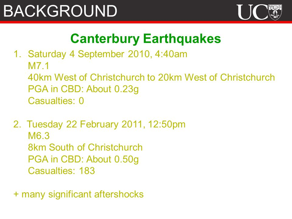 Canterbury Earthquakes