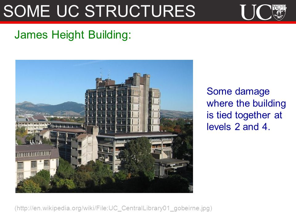 SOME UC STRUCTURES James Height Building: