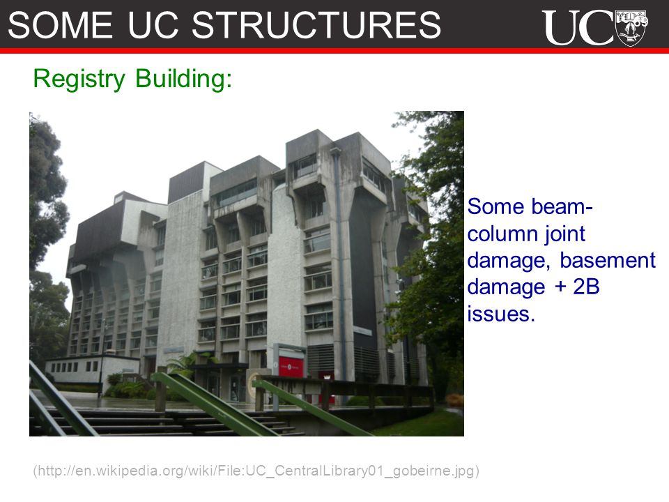 SOME UC STRUCTURES Registry Building: