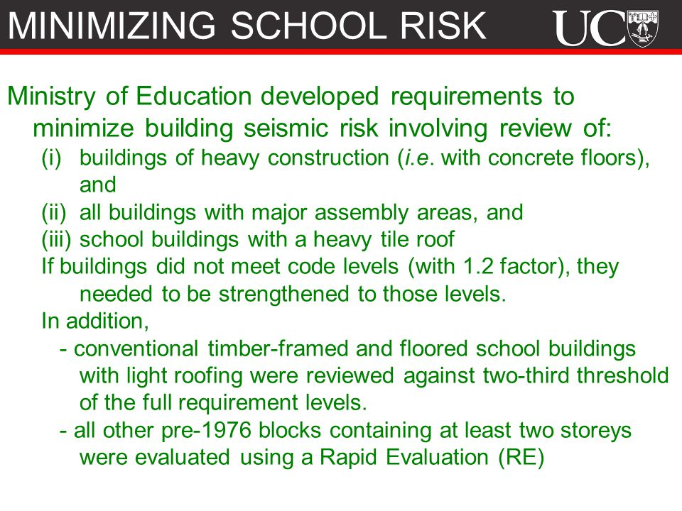 MINIMIZING SCHOOL RISK
