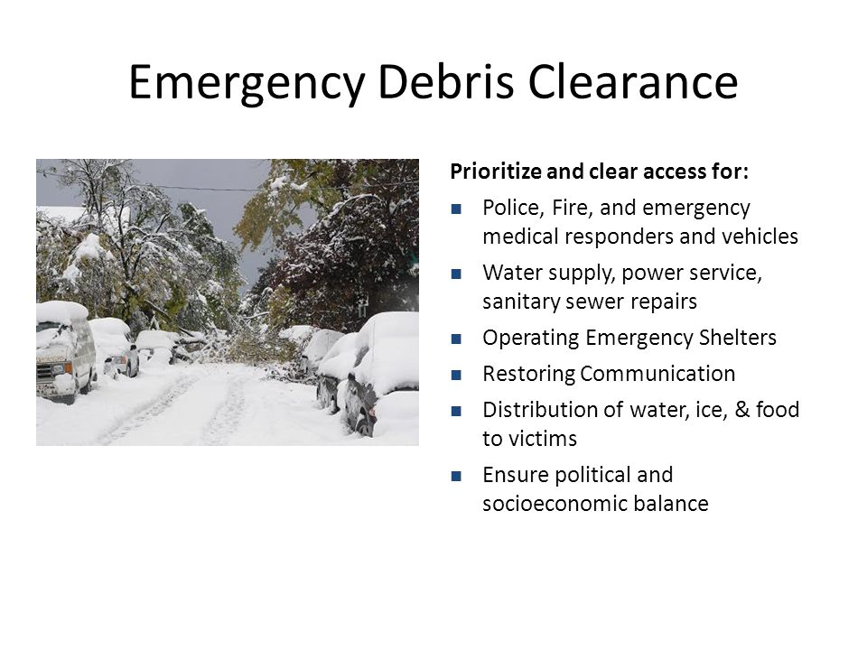 Emergency Debris Clearance