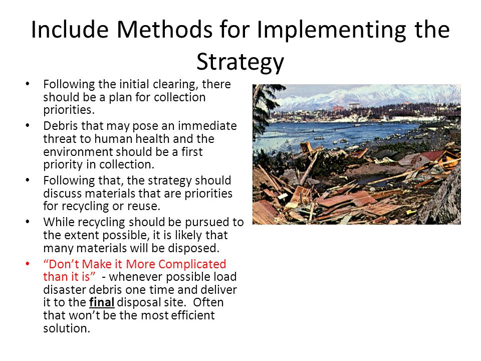 Include Methods for Implementing the Strategy