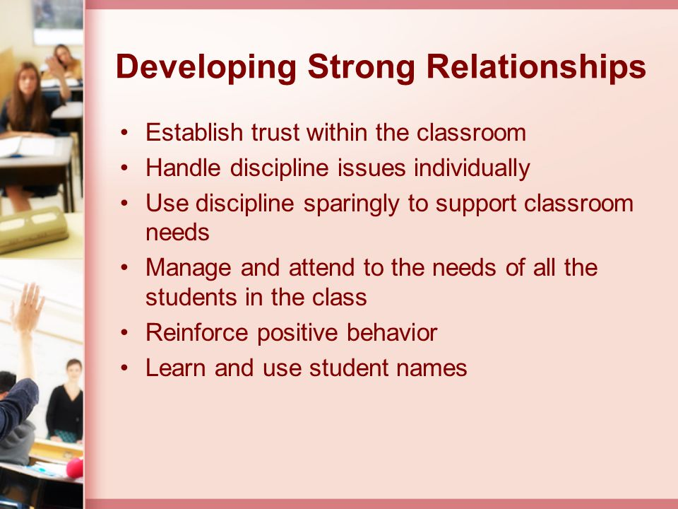 Developing Strong Relationships
