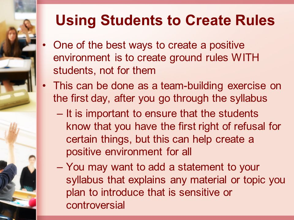 Using Students to Create Rules
