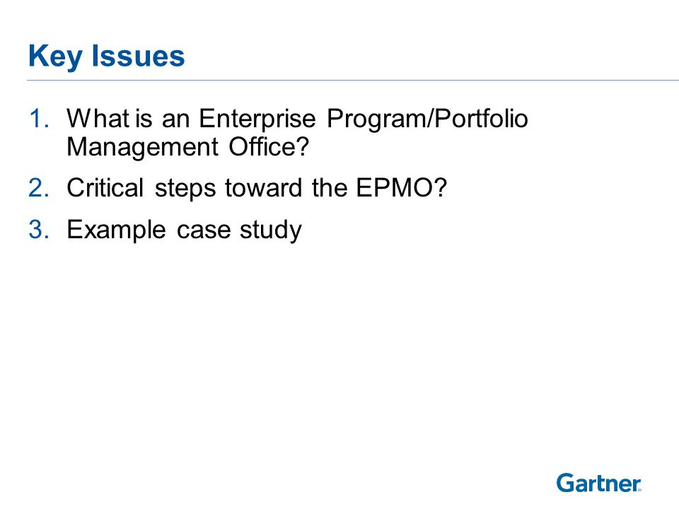 Understand What is Driving the Need for an EPMO