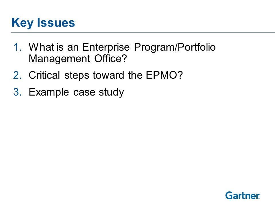Defining the Enterprise PMO