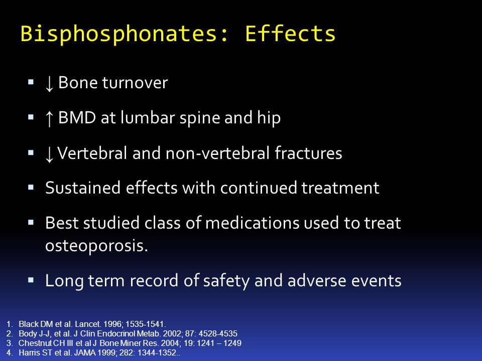 Bisphosphonates: Effects