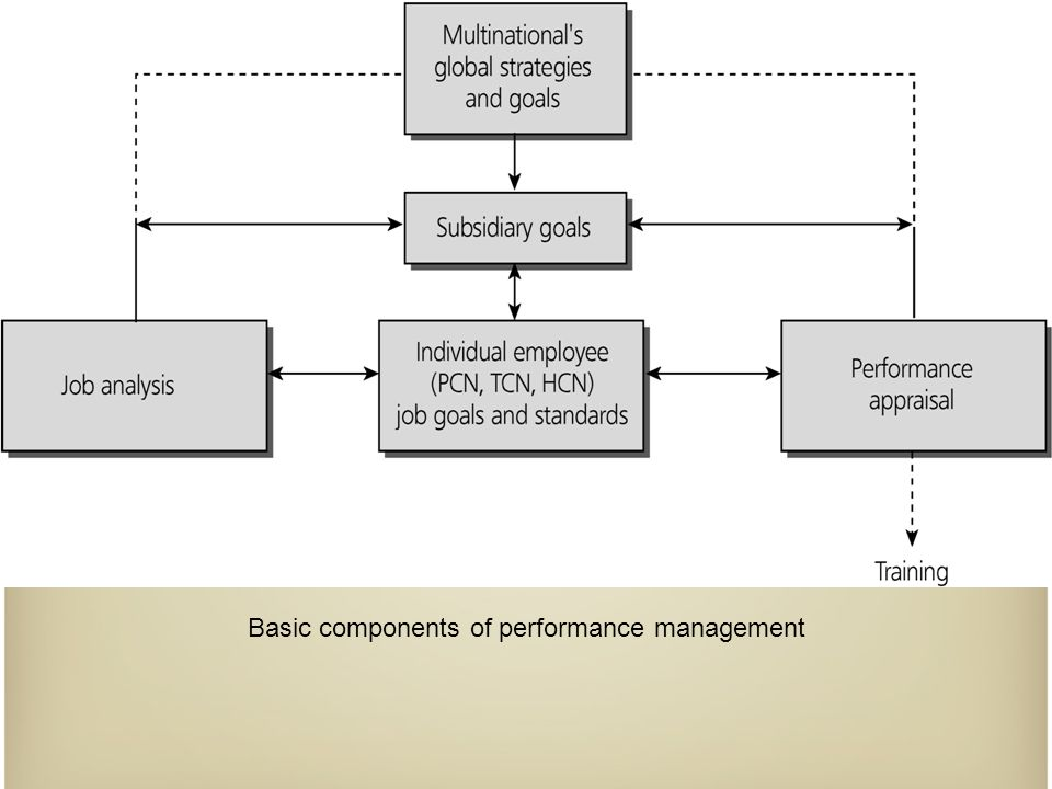 Basic components of performance management