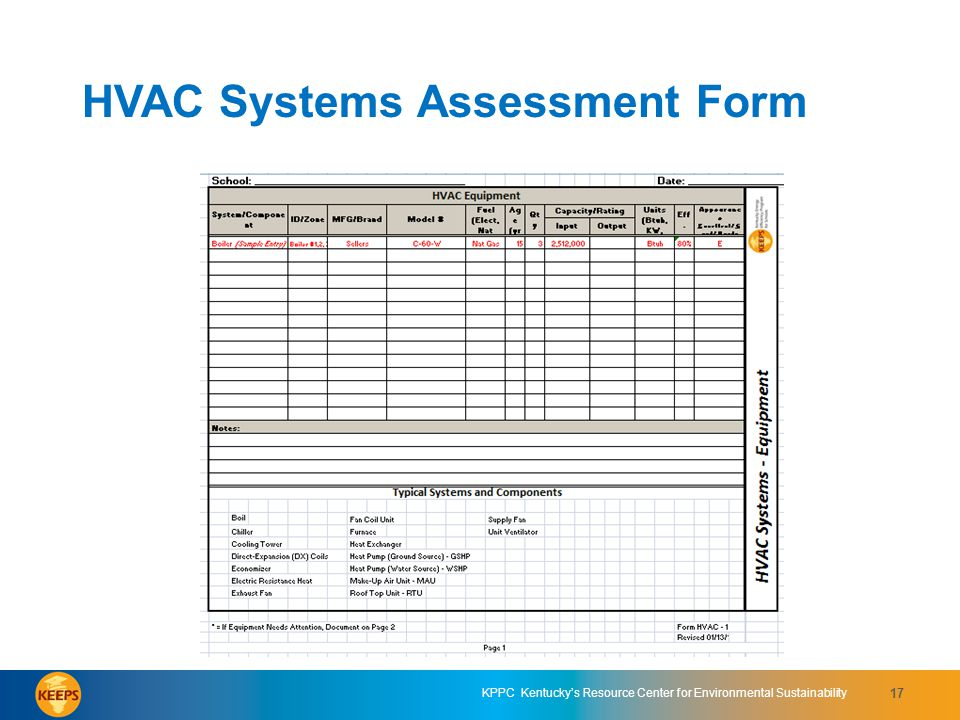 HVAC Systems Assessment Form 5