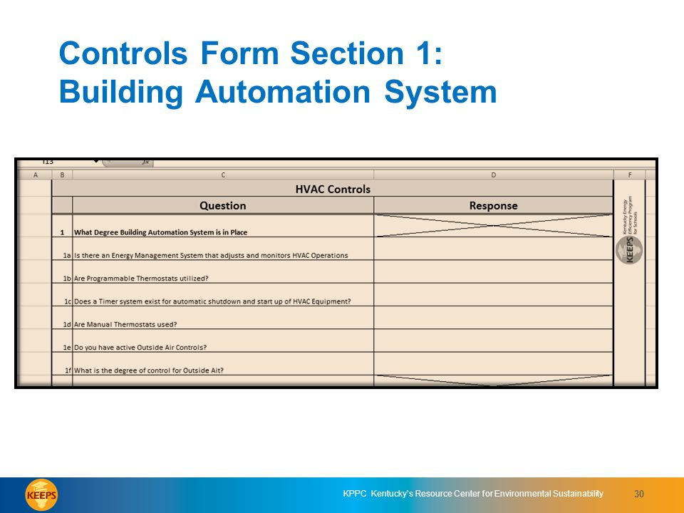 Controls Form Section 1: Building Automation System