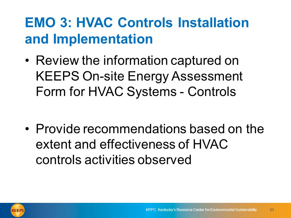 EMO 3: HVAC Controls Installation and Implementation