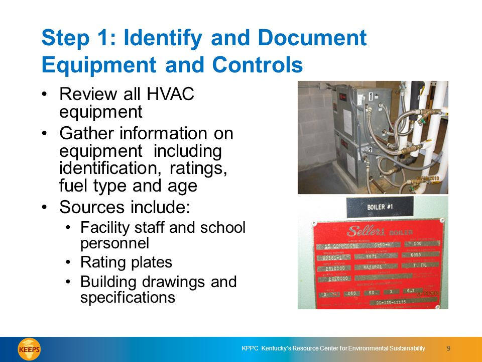 Step 1: Identify and Document Equipment and Controls
