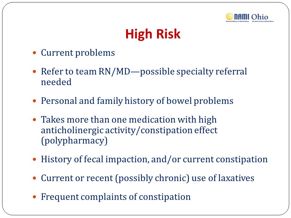 High Risk Current problems