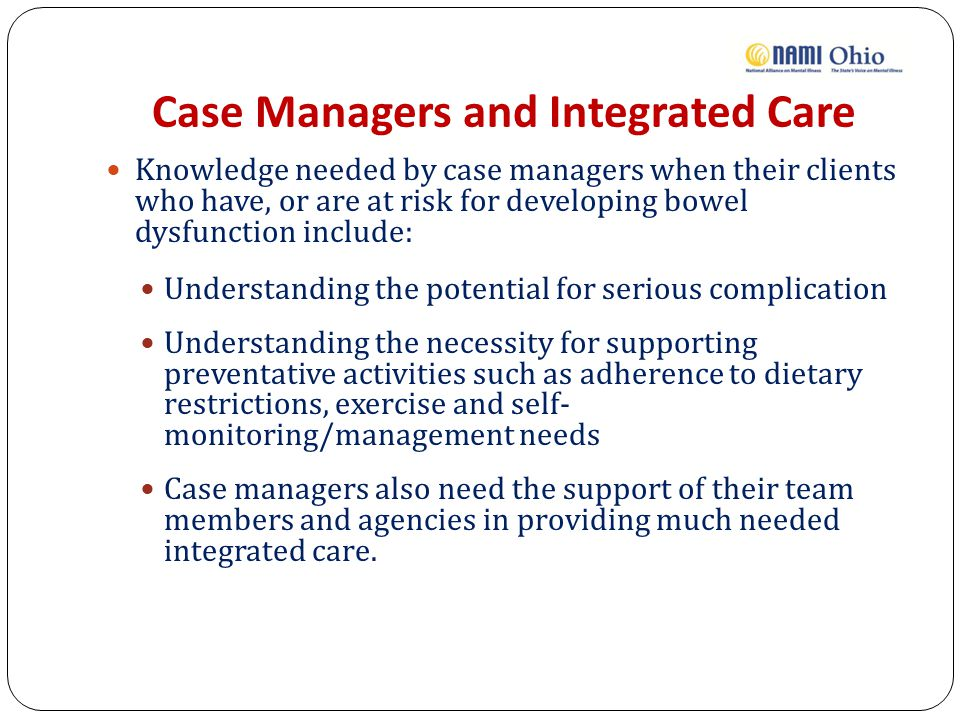 Case Managers and Integrated Care