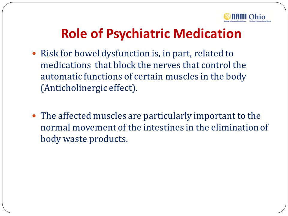 Role of Psychiatric Medication