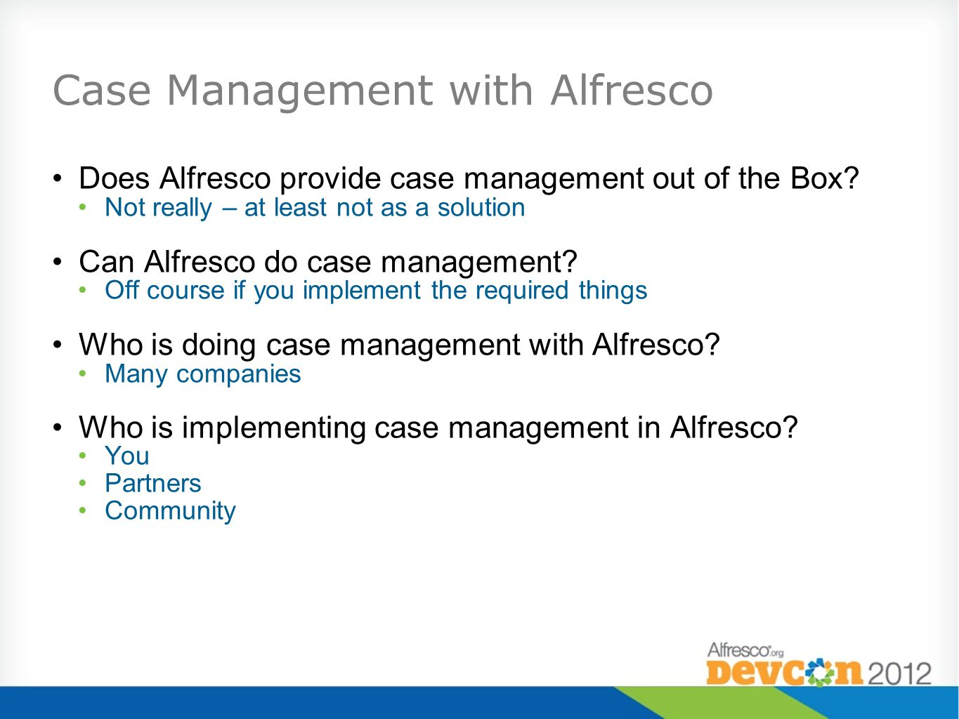 Case Management with Alfresco