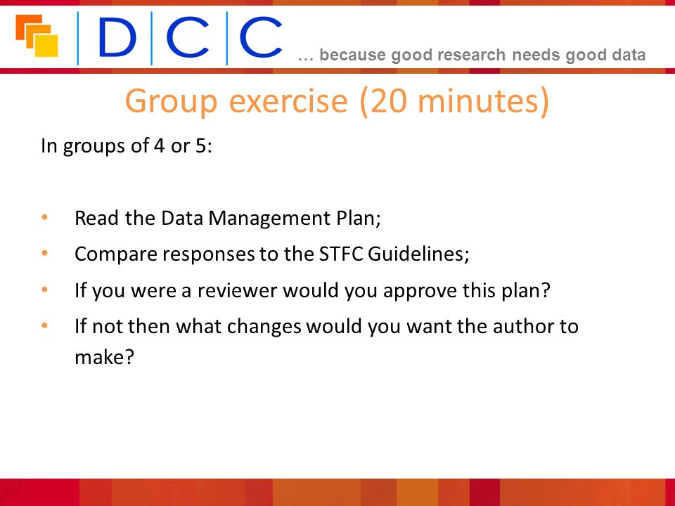 Group exercise (20 minutes)