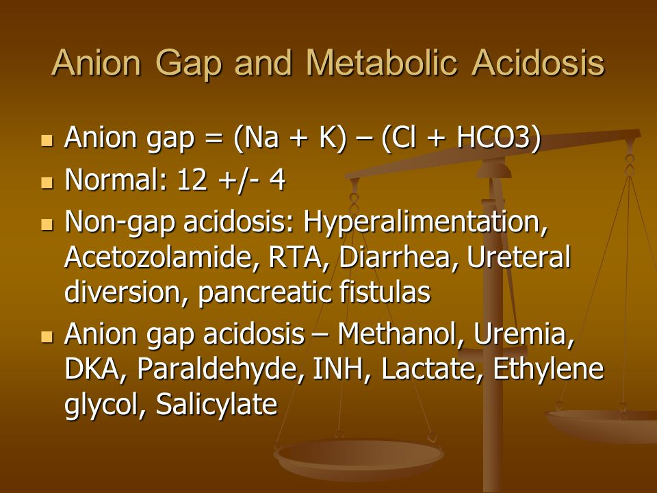 Anion Gap and Metabolic Acidosis