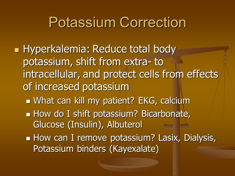 Potassium Correction