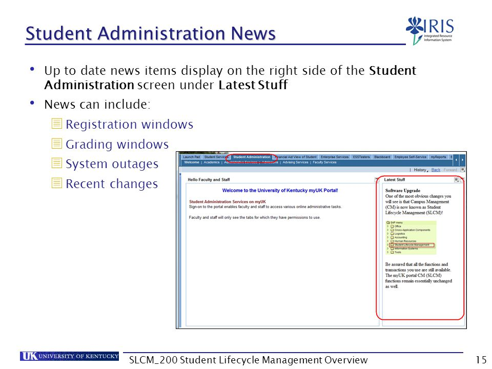 Student Administration News