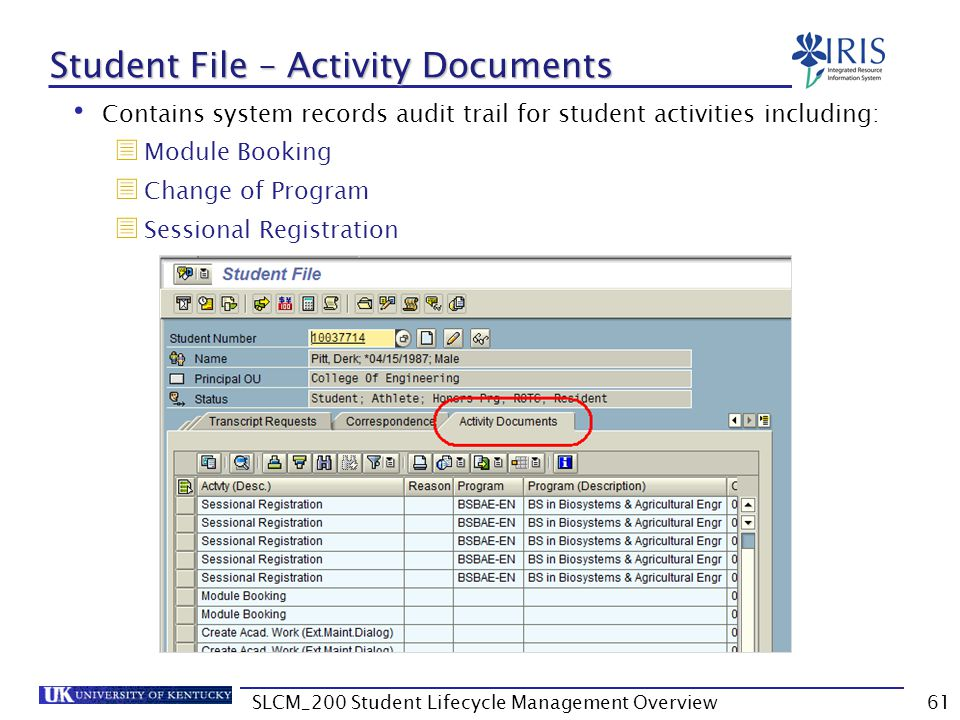 Student File – Activity Documents