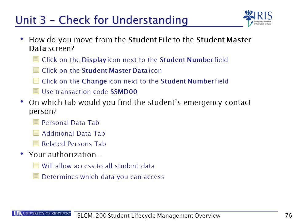Unit 3 – Check for Understanding