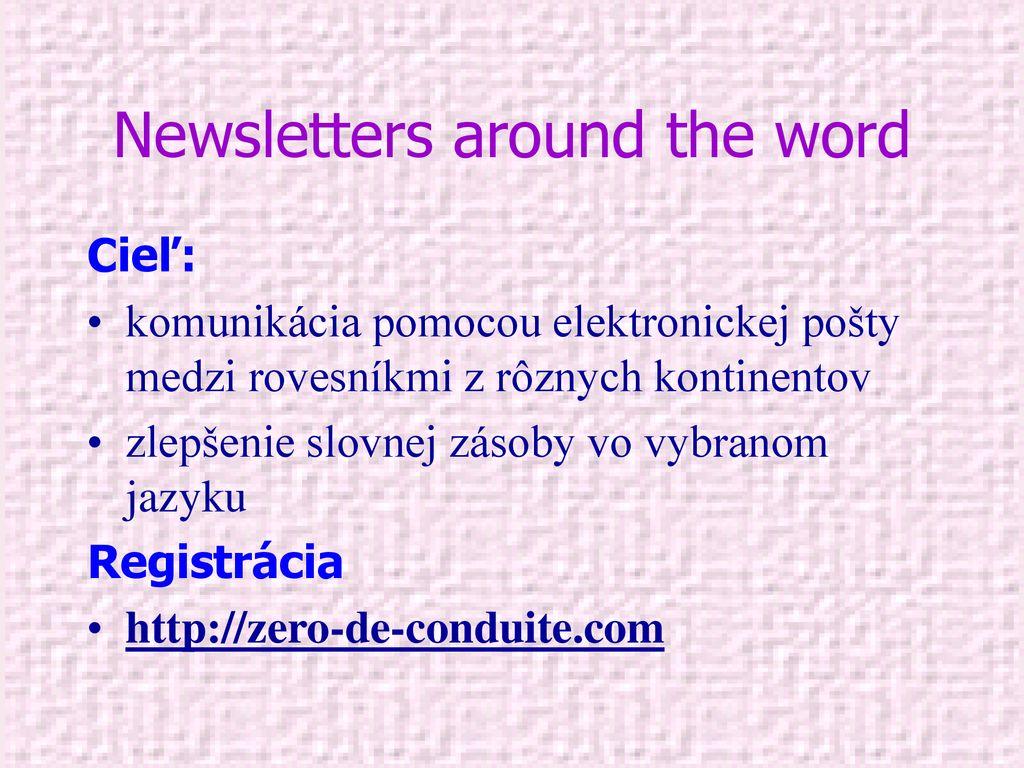 Zoznamka slová slovnej zásoby