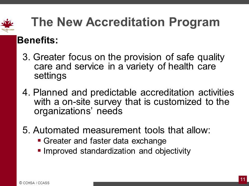 The New Accreditation Program