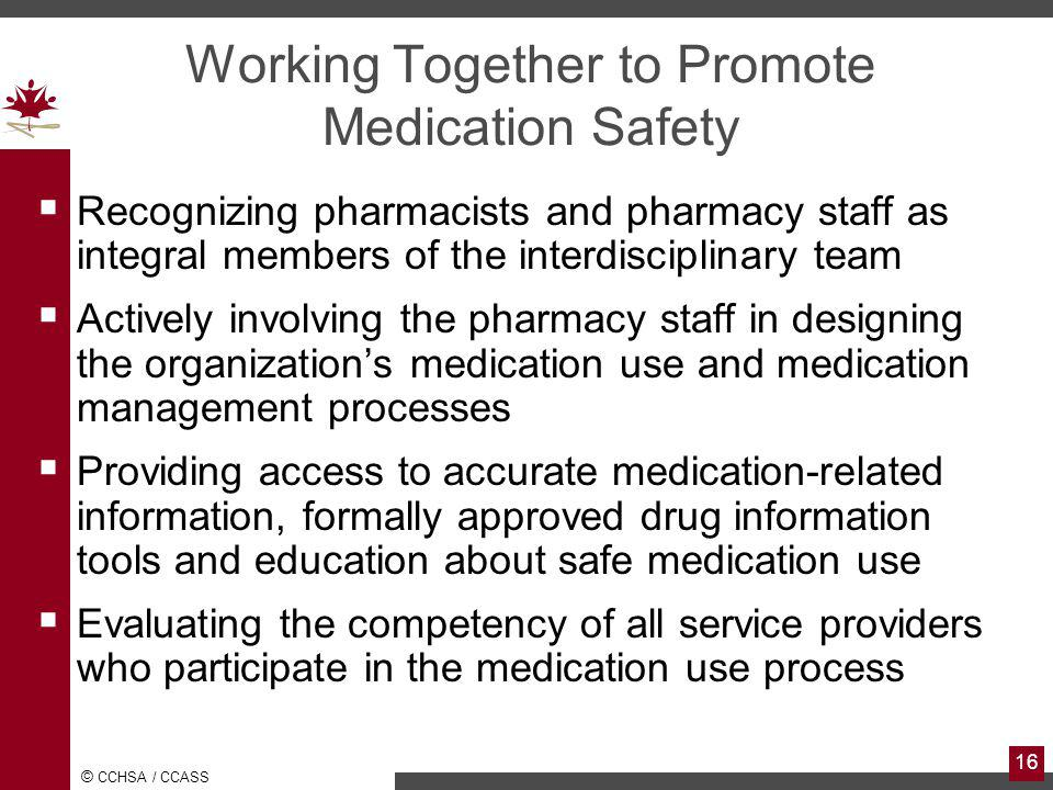 Working Together to Promote Medication Safety