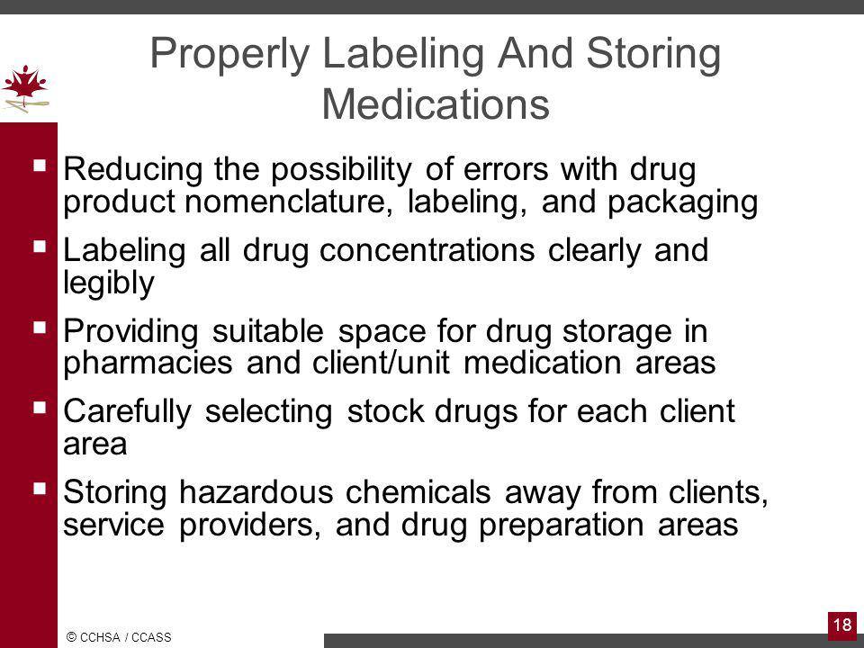 Properly Labeling And Storing Medications