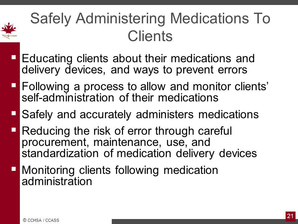Safely Administering Medications To Clients