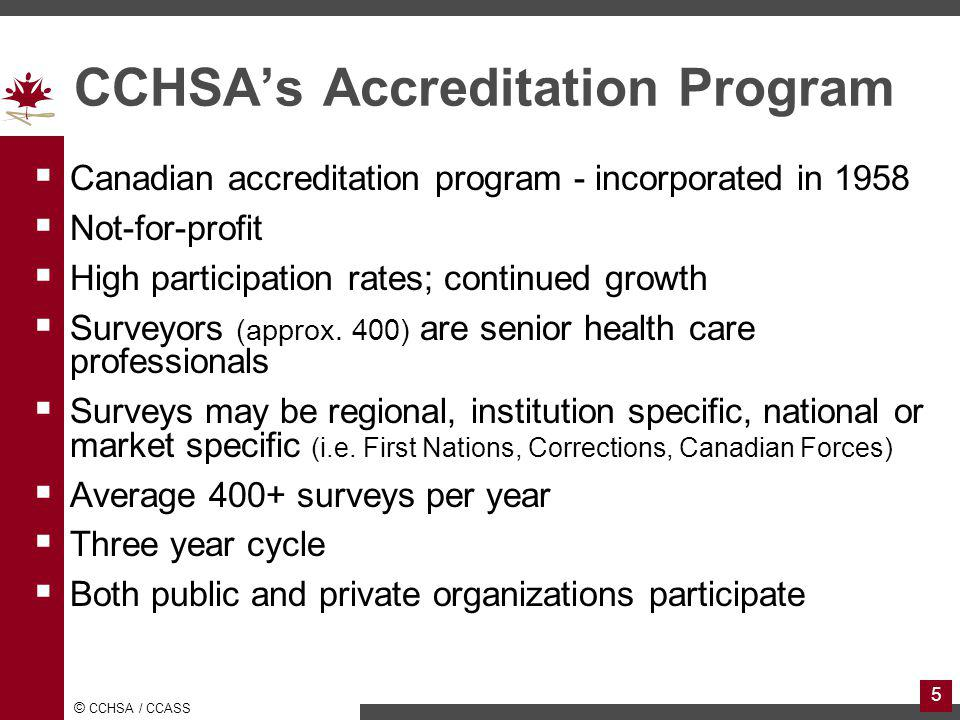 CCHSA's Accreditation Program