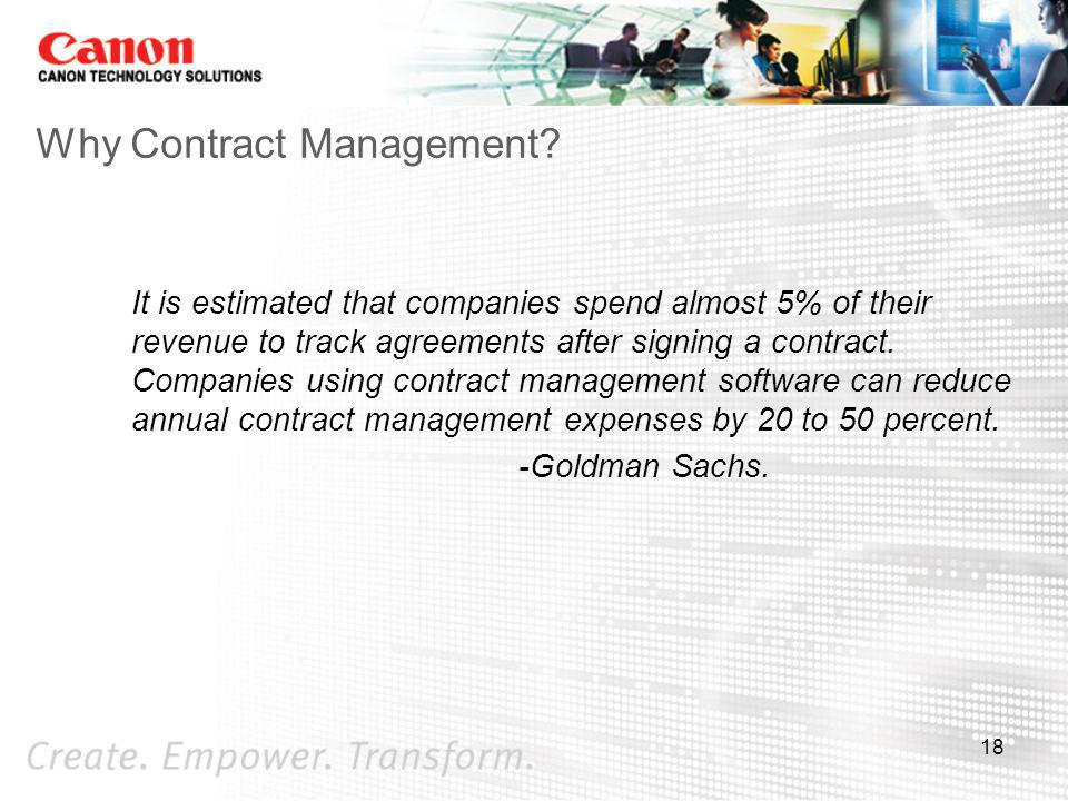 Why Contract Management