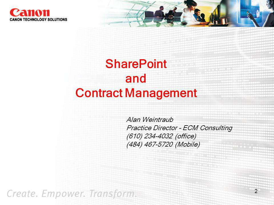 SharePoint and Contract Management